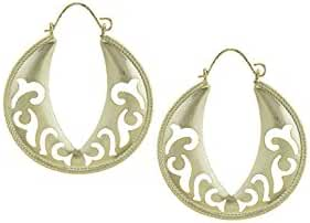 BAUBLES & CO FILIGREE CUTOUT CRESCENT EARRINGS