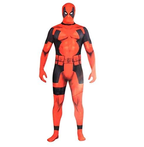 Unisex Full Body Spandex Lycra Zentai Kick Ass Deadpool Flag Costume -