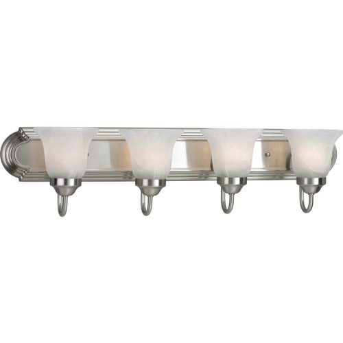 Progress Lighting P3054-09 4-Light Bath Bracket, Brushed Nickel