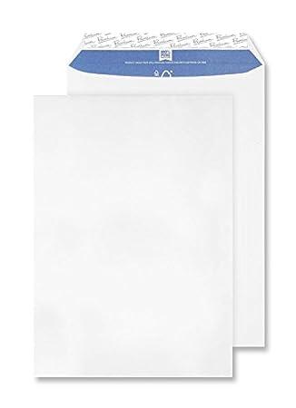 Premium Office C4 - Paquete de sobres con cierre autoadhesivo (229 x 342 mm, 250 unidades), color blanco: Amazon.es: Oficina y papelería