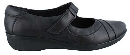 B Foxvale 6 Flat M Black Pine Clarks Women's Leather qZF1B1
