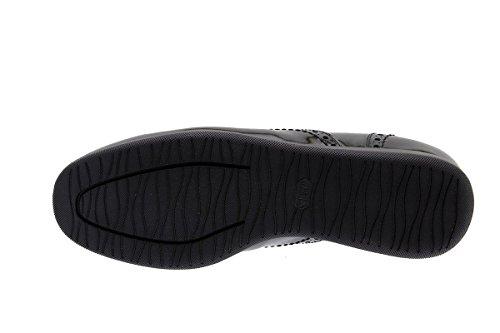 Confortables Chaussure Piesanto Lacets Negro 175630 À black Femme Cuir Amples Confort En xqqw6T7A