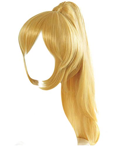 C-ZOFEK Bowsette Blonde Wig With Ponytail Clip (blonde) -