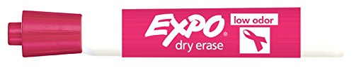 Expo Low Odor Chisel Tip, Pink, - Pink Dry Markers Erase