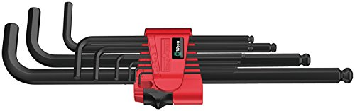 Ball Plus Hex Key Set - Wera Hexagon 950 PKL/9 BM SB L-Key Set, BlackLaser, Ballpoint Hex Key, 9 Piece