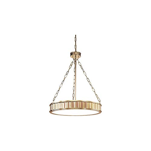 Hudson Valley 902-AGB, Middlebury Large Drum Pendant, 5 Light, 300 Total Watts, Brass ()