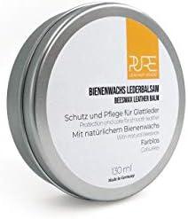 PURE Leather Studio Lederbalsam mit natürlichem Bienenwachs farblose Lederpflege Balsam Schutz und Pflege für alle Glattlederarten