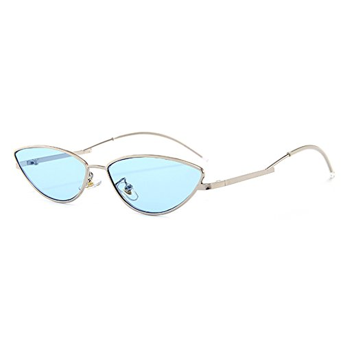 UV400 Cateye Personality Shopping for ocean Traveling Lens Fashion Men Frame Sunglasses Holiday Street Silver Women Glasses Sun Blue Protection pdxqw17tw
