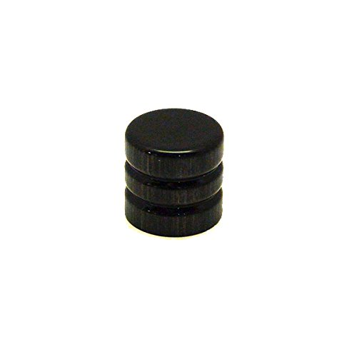 ant-hill-music-wooden-guitar-knob-root-beer-barrel-style-brushed-black-pattern