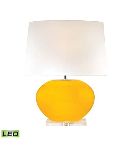 Amazon.com: Lámparas de Mesa 1 Luz con amarillo Acabado ...