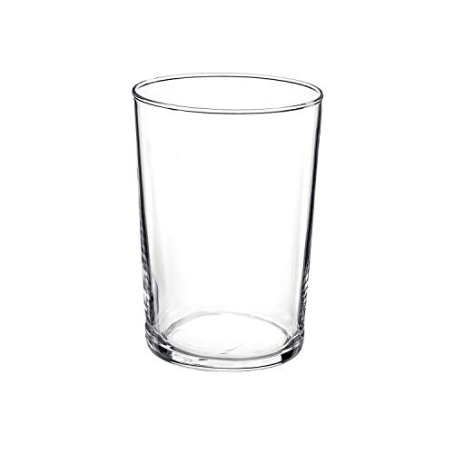 Bormioli Rocco Bodega Collection Glassware - Set Of 12 Maxi 17 Ounce Drinking Glasses For Water, Beverages & Cocktails - 17oz Clear Tempered Glass Tumblers