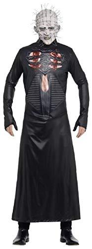 Mens Ladies Deluxe Pinhead Hell Raiser Halloween Horror TV Book Film Scary Fancy Dress Costume Outfit M L (Men: Medium)]()