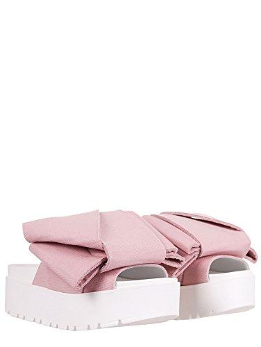 Olivia's Bow - Zuecos de algodón para mujer rosa Cipria