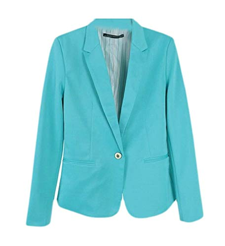 Giacca Qk Donna Anteriori Baggy Bavero 1 lannister Outwear Button Tailleur Giubotto Monocromo Suit Lunga Tasche Da Confortevole Autunno Leisure Ragazza Manica rrYw1