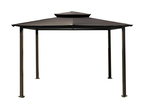 Paragon-Outdoor GZ584EG Backyard Structure Soft Top Barcelona Gazebo, 10′ x 12′, Grey For Sale