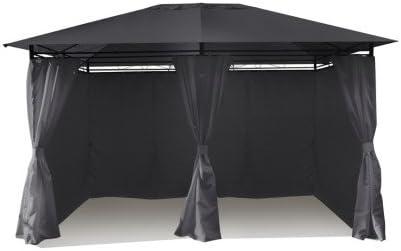 Ose - Pérgola de 3 x 4 m con cortinas grises: Amazon.es: Jardín