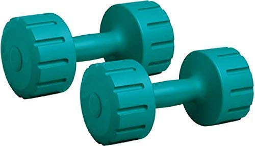Aurion Unisex's 1 KG to 5 Kg Dumbells Set | Men Women | for Weight Lifting Training Fitness Barbell Bench Press Exercise Home Gym Equipment, Green