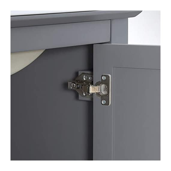 """Fresca Manchester 30"""" Gray Traditional Bathroom Vanity - Dimensions of Vanity: 29.5""""W x 18""""D x 34""""H Vanity Materials: Solid Wood Frame with MDF Panels Countertop/Sink Materials: Integrated Ceramic Sink - bathroom-vanities, bathroom-fixtures-hardware, bathroom - 310DNEC0gLL. SS570  -"""