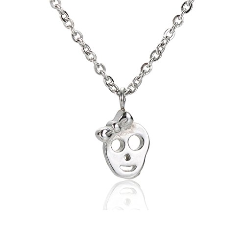 (Couples Best Friend Relationship Necklace - Human Skull I Love You Jewelry Women 16