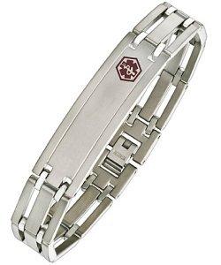 Elite Jewels Titanium Adjustable Medical ID Bracelet