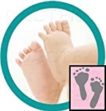 ''Deluxe'' Baby Inkless Footprint Kit with Color Papers (Pink)