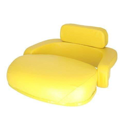 Seat 3-Piece Set Vinyl Yellow John Deere 4020 3020 4230 4000 7700 4430 4010 4240 4630 3010 4320 6620 4030 2520 2510 6600 4520 830 820 4620 7520 5400 5200 7020 2010 5020 6030 5010 6602 400 3300 9910