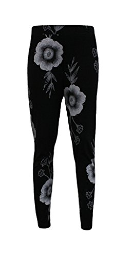Comfiestyle - Pantalón - chino - para mujer multicolor Big Flower XL (44-46)