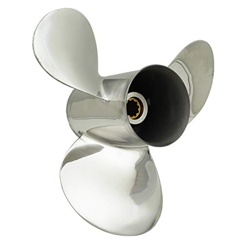 (POLASTORM for Mercury 25-30HP Stainless Steel Outboard Propeller 9.9 x 12 Pitch)