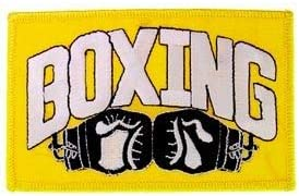 """BOXING Premium Quality Iron On Patch 4.5/"""" Novelty Embroidered Patches"""