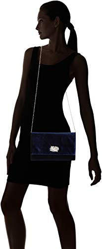 Envelope Jessica Velvet Clutch Evening Large Nora McClintock Navy qBErwIB