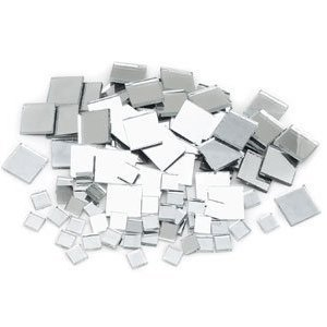 3 Size Assorted Mosaic Mirror Tiles - 100+ - 3/8