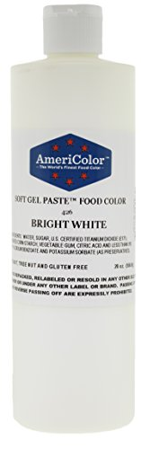 Food Coloring AmeriColor - Bright White Soft Gel Paste, 20 Ounce by AmeriColor
