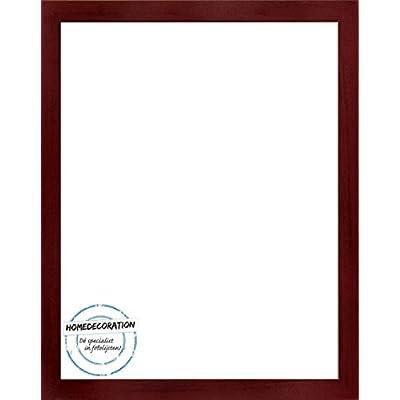 Cornice Misano 75 X 50 Cm Mdf Cornice In Stile Moderno 50 X 75 Cm Colore Selezionato Rosso Con Venature Scure Con Vetro Plastico Antiriflesso 1 Mm