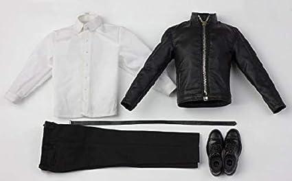 1:6 Scale Black PU Leather Jacket Coat for 12/'/' Men Action Figures Doll