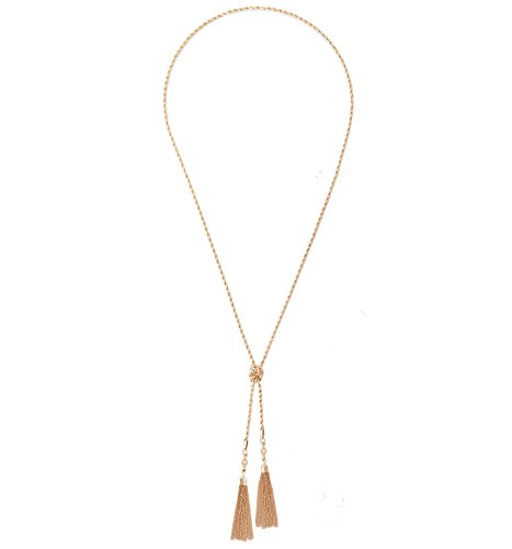 VUJANTIRY Knotted Long Necklace for Women Tassel Pendant Necklace Multifunctional Y Shape Chain Necklace ()
