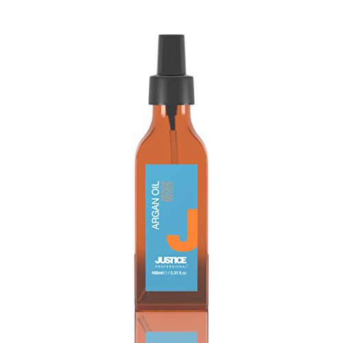 Argan Oil Sun and Heat Hair Protector Spray   Natural, Lightweight Styling Treatment to Regenerate and Nourish   Premium Hydration, Conditioning and Color Control/JUSTICE Professional 100ml 3.4oz from Justice Professional Haircare