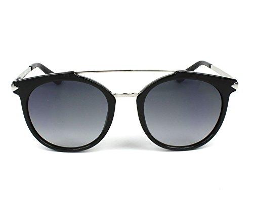 lunettes gris Brillant tour Noir brillant en Argent GU7532 noir double pont Guess 01B soleil 52 de des n8xZB1Z