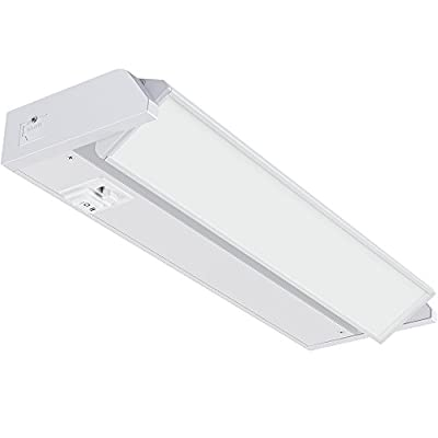 GetInLight 3 Color Levels Swivel LED Under Cabinet Light, Dimmable, Hardwired/Plug-in, Warm White(2700K), Soft White(3000K), Bright White(4000K), White Finished, 12-inch, IN-0202-1-WH