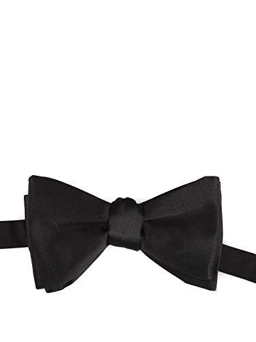 (Z Zegna Men's Z6d664sea Black Silk Bow Tie )