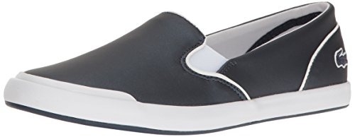 Lacoste Women's Lancelle Slip on 117 2 Fashion Sneaker, Navy, 9.5 M US