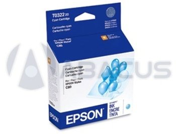 (Genuine Epson T032220 Cyan Inkjet Cartridge)