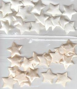18 xPadded Fabric Stars Embellishment white