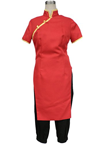 Gintama Cosplay Costume-Leader Kagura Cheongsam 2Pcs Set