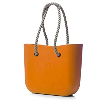 6b224bb74 Obag Beach Bag - Shopping Tote Purse in Orange with Rope Handles:  Amazon.co.uk: Beauty
