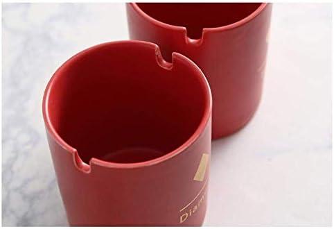 Zxyan 置物 装飾 ふたホームクリエイティブパーソナリティオフィスデコレーション灰皿防風と蓋磁器灰皿付き屋内灰皿のための灰皿灰皿 おしゃれ プレゼント