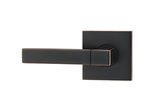 - Fortessa ARES Series Contemporary Design Door Lever / Door Handle with Oil Rubbed Bronze Finish (Dummy Left, Oil Rubbed Bronze)
