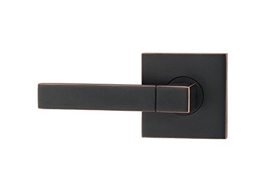 Fortessa ARES Series Contemporary Design Door Lever / Door Handle with Oil Rubbed Bronze Finish (Dummy Left, Oil Rubbed Bronze) (Contemporary Door Designs)