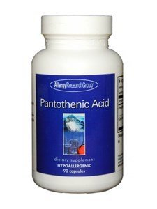 Allergy Research Group Pantothenic Acid, 500mg - 90 Capsules [Misc.] by Allergy Research Group