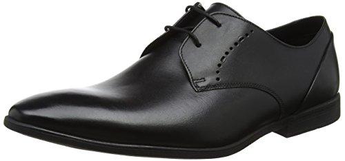 Clarks Bampton Lace, Scarpe Stringate Derby Uomo Nero (Black Leather)