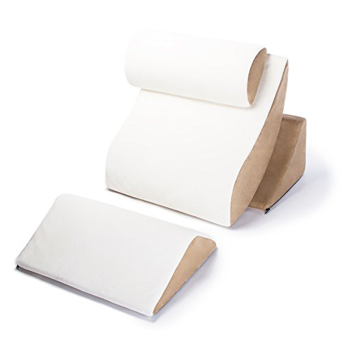 AVANA Kind Bed Orthopedic Support Pillow Comfort System, Cloud/Camel, Complete Comfort System